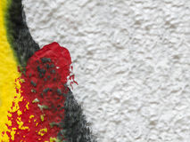 Close up of plastered painted old wall Royalty Free Stock Photo