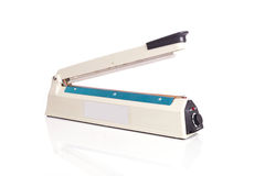 Close up plastic bag sealer  on white Stock Photo