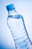 Close-up plastic bottle of drinking water obliquely Royalty Free Stock Photography