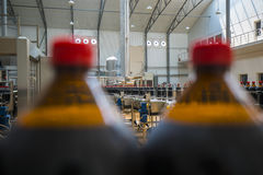 Close up of plastic bottle industry on a conveyor belt Stock Photography