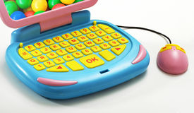 Close up Plastic Computer with Mouse Toy Royalty Free Stock Images