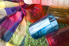 Close up plastic cups Stock Images