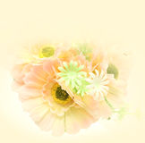 Close up plastic flower color bright Royalty Free Stock Photos