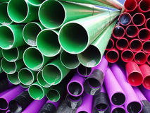 Close up of plastic pipes Royalty Free Stock Photo