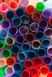 close-up of plastic straws Royalty Free Stock Photo