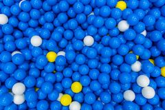 close up of plastic toy colorful ball at the playground for children stock image