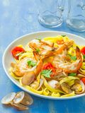 Rustic italian seafood pasta Royalty Free Stock Images