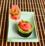 Close-up plate with sushi Stock Photo
