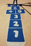 Close up of play hopscotch Stock Photography