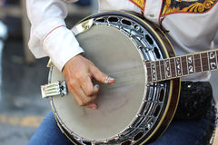 Close up player playing banjo Stock Photos