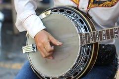 Close up player playing banjo Stock Photos
