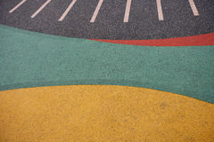 Close up of playground rubber floor Royalty Free Stock Photography