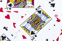 Close up playing cards background Royalty Free Stock Photo