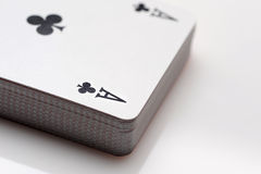 Close up of playing cards poker. Game on white background stock images