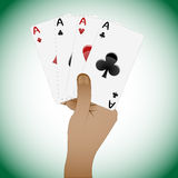 Close up of playing cards poker playing cards. Abstract vector art illustration Stock Photos