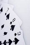 Close Up Playing Cards. Suit of Spades Stock Images