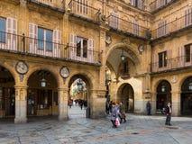 Close up of Plaza Mayor. Salamanca Royalty Free Stock Photos