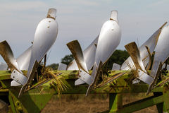 Close up of plough blades Royalty Free Stock Image