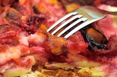 Close up plum cake Stock Image