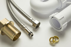 Close up of plumbing fittings Royalty Free Stock Image