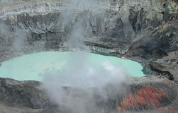 Close up on Poas Volcano Crater Royalty Free Stock Image