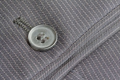 Close up pocket button on suit trousers Royalty Free Stock Image
