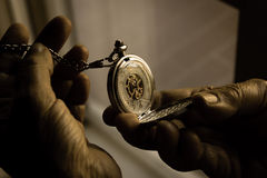 Close-up of a pocket watch Stock Photo