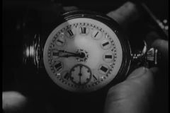Close-up of pocket watch and passage of time stock video