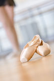 Close-up of pointes for ballet Stock Photos