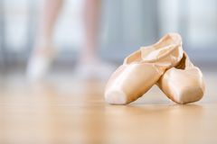 Close up of pointes for ballet Royalty Free Stock Photo