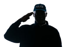 Close-up of policeman saluting Stock Images