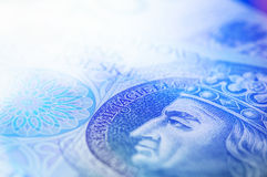 Close-up of polish currency cash. Royalty Free Stock Photography
