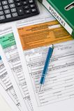 Close up of Polish income tax forms on desk Stock Photo