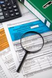 Close up of Polish income tax forms on desk Stock Image