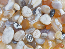 Close Up of Polished Beach Agates Royalty Free Stock Photos