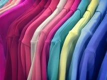 Close up Polo Shirts vívido fotos de stock