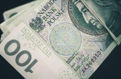 Close up polonês das cédulas do zloty Imagens de Stock Royalty Free