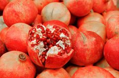 Close up of pomegranates Royalty Free Stock Photos