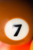 Close-Up Of Pool Ball Number 7 Stock Photos