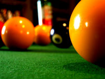 A close up of a pool table stock photography