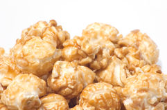 Close-up of popcorn, isolated on white Royalty Free Stock Photo