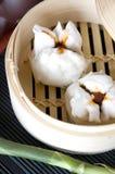 Close up pork chinese bun Royalty Free Stock Photos