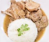 Close up Pork rib roast with sweet sauce Stock Images