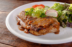 Close up Pork steak Royalty Free Stock Photography