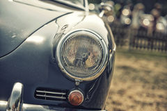 Close up on Porsche  vintage car and lights Stock Photos