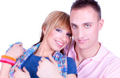 Close up portait of Young love couple Royalty Free Stock Images