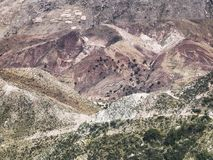 Close up portion of the colorful Cordillera de Frailes, Sucre, B Royalty Free Stock Photography