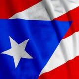Close up porto-riquenho da bandeira Fotografia de Stock Royalty Free