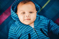 Close up portrait of adorable baby boy Stock Photography