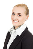 Close-up portrait of air hostess stock photography